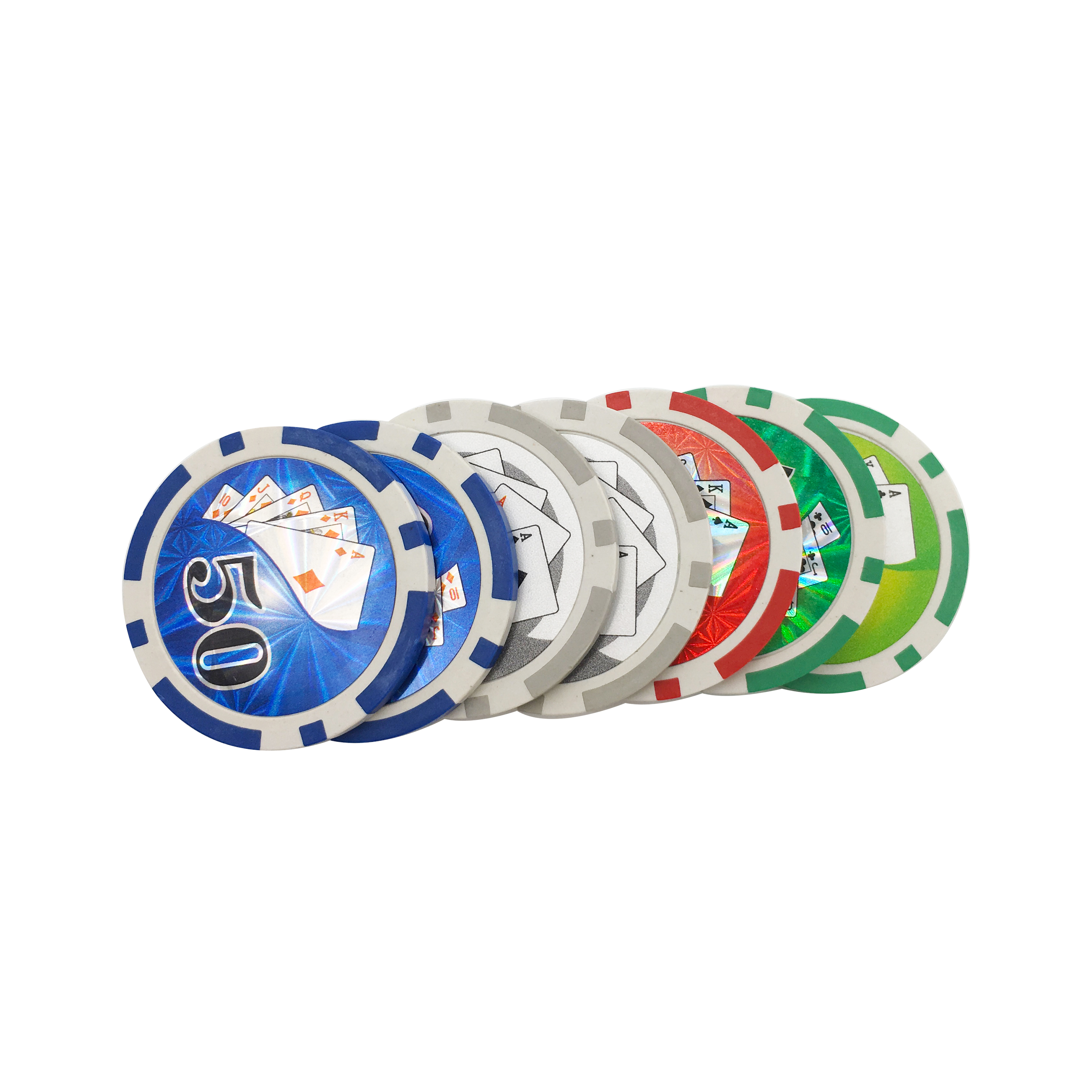 Casino poker chips with custom logo