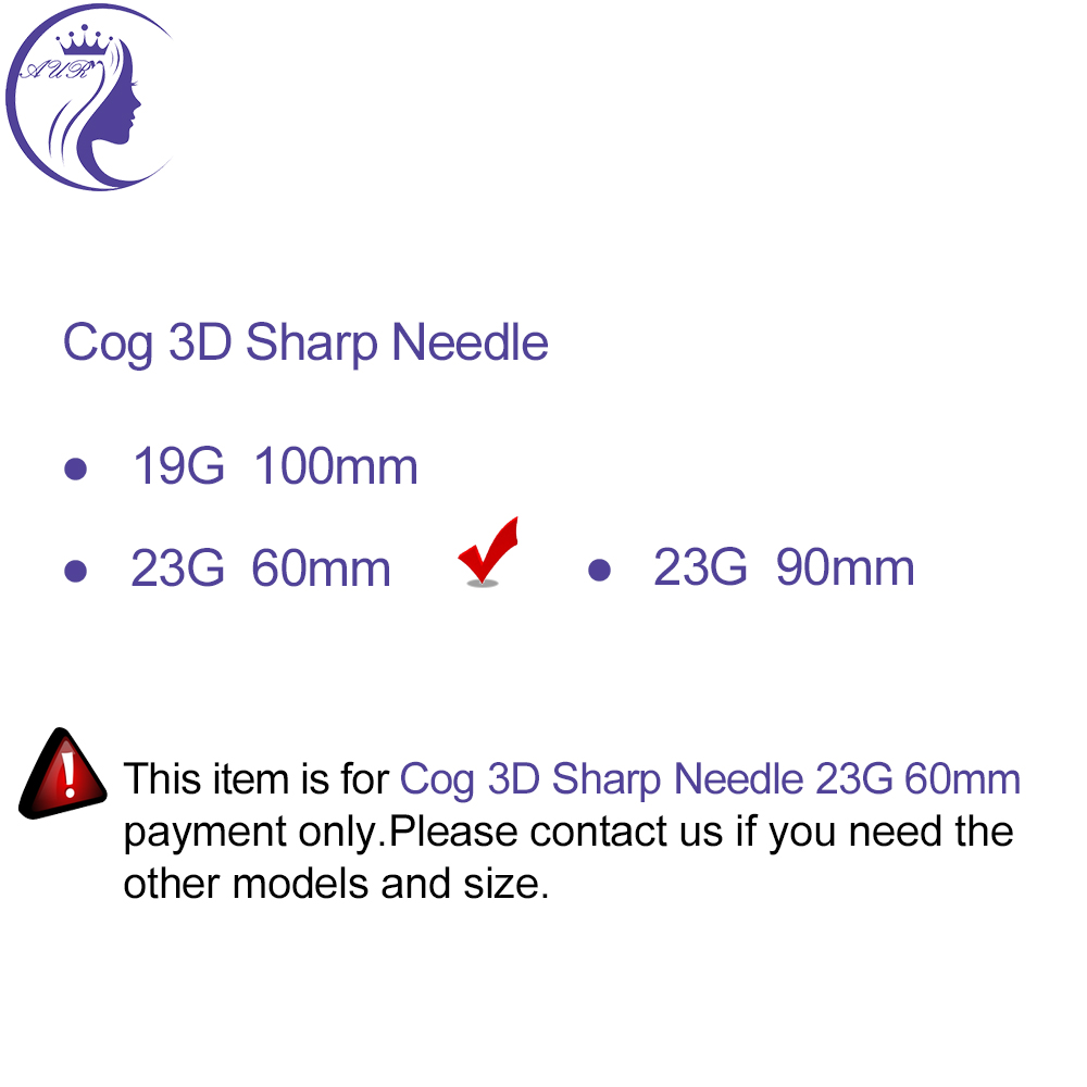 Cog 3D 23G 60mm PDO line lifting thread korea thread lift with sharp needle