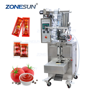 ZONESUN ZS-S100 Automatic Paste Honey Stick Oil Jam Ketchup Water Quantitative Liquid Packaging Machine Filling Sealing Machine
