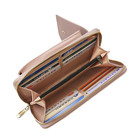 New women long multi-function solid color mobile phone bag female Korean pu single shoulder oblique satchel manufacturer