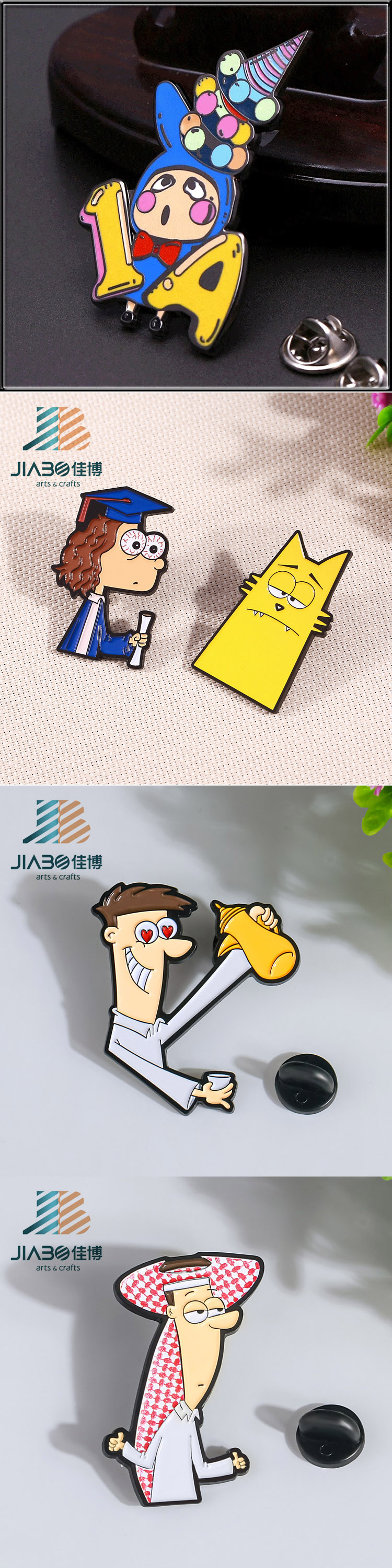 direct sell metal cartoon girl hard enamel pin custom bulk lapel pins