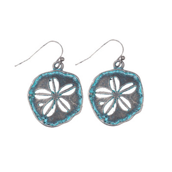 VRIUA Simple Openwork Pattern Leaf Shape Retro Wild Small Earrings