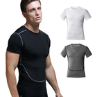 Blank Make Your Own Shirts Make Your Own Basketball Training Fitness Running Sports Compression Tee Shirts for Men