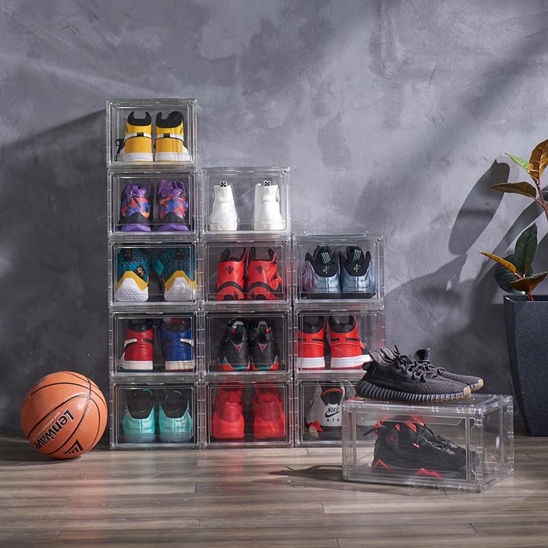 Shoe box plastic acrylic box storage container