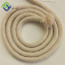 Multistrand braided diameter 8mm cotton rope with Natural color