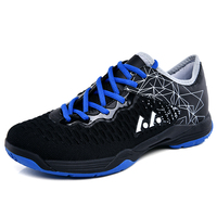 Lower cost Badminton Shoes Adult Non Slip Indoor Court Training Sneakers Comfy Tennis Shoes