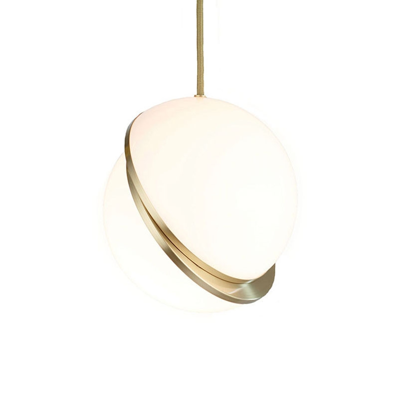 Glass Globe Pendant Light Hanging Lamp Shaped Led Lighting Pendent Chandeliers Ceiling Large Rings Lights Gold