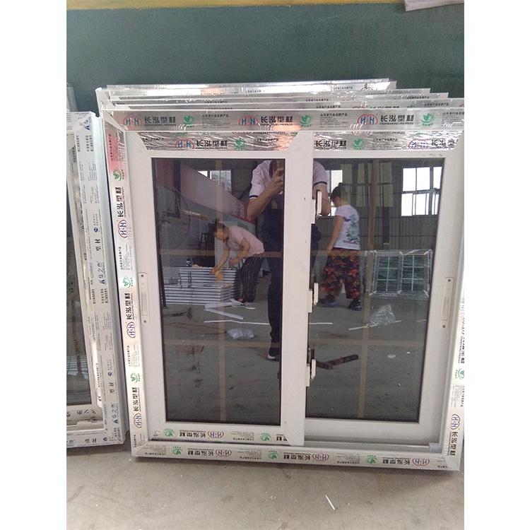 PVC hurrikan auswirkungen schiebefenster mit doppel gehärtetem reflektierende glas und moaquito net
