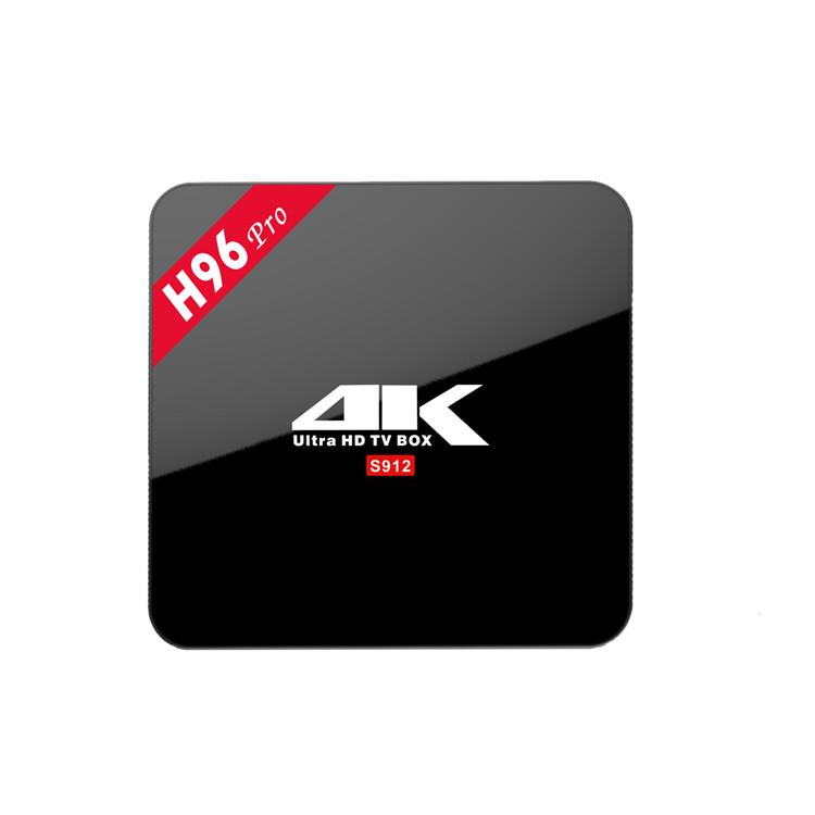 Пользовательский логотип OEM доступен BT4.0 android 7,1 H96 pro + android tv box