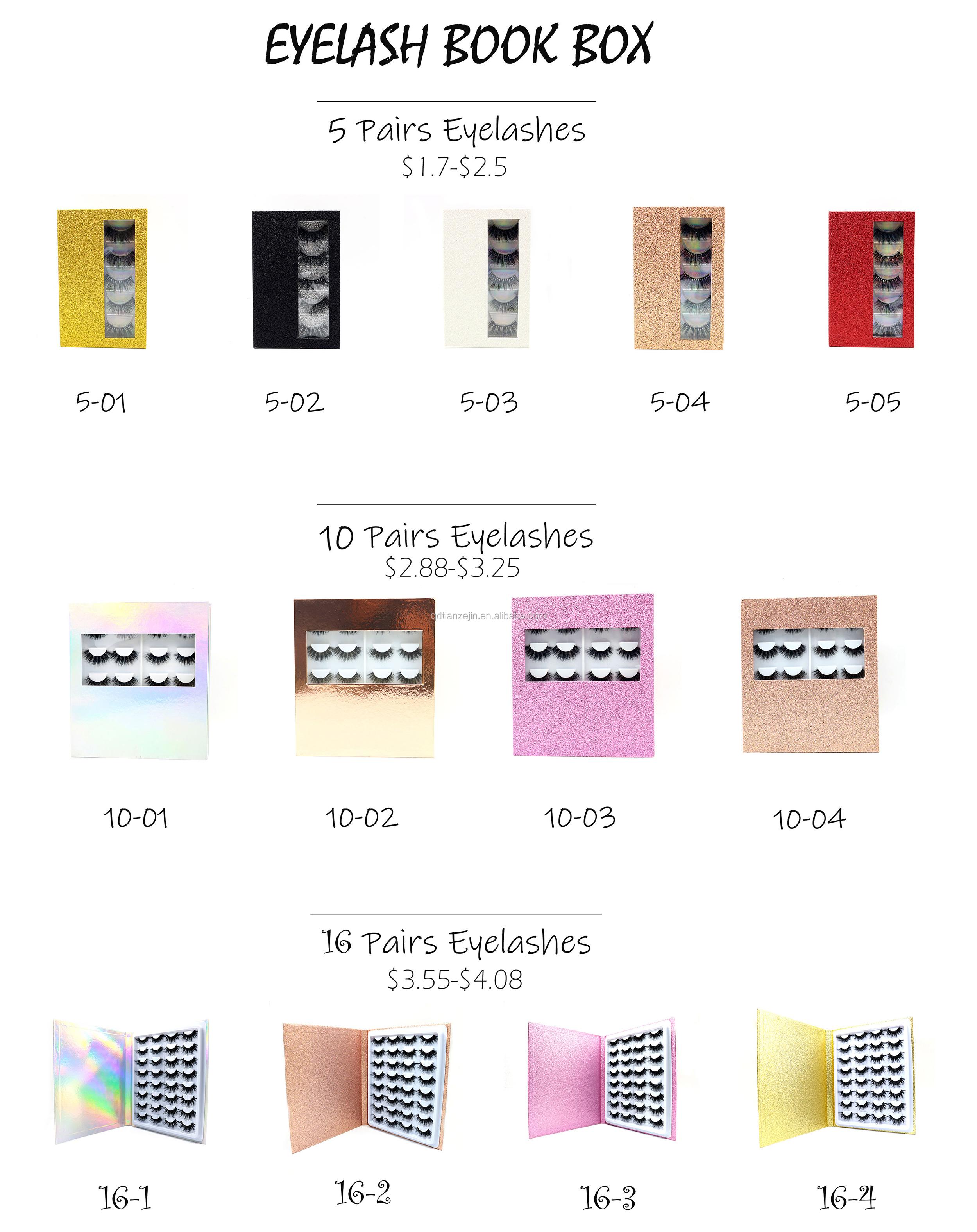 Fornitore della fabbrica del commercio all'ingrosso su misura 3d ciglia di visone scatola di imballaggio con logo