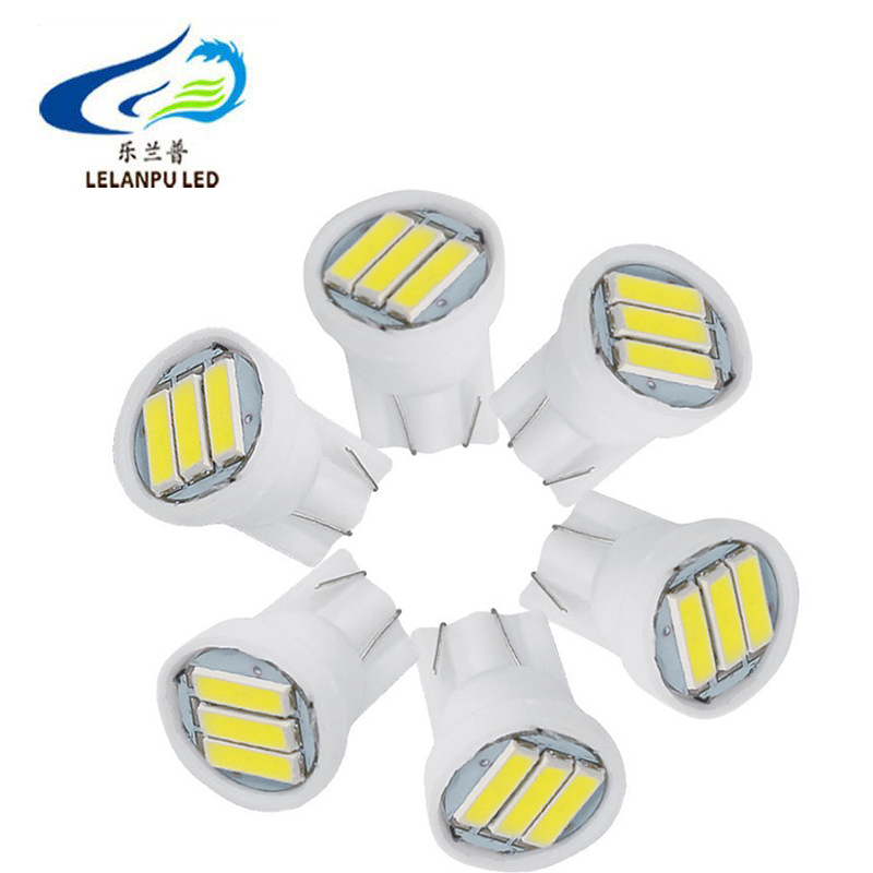 12V T10 W3W Led 7020 3SMD Bulbs 7014 Chip 168 192 501 for Auto Lighting Clearance License Plate Light Dome Parking Lights