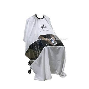 Beauty Hair Salon Apron Hairdressing waterproof custom logo barber cape with window