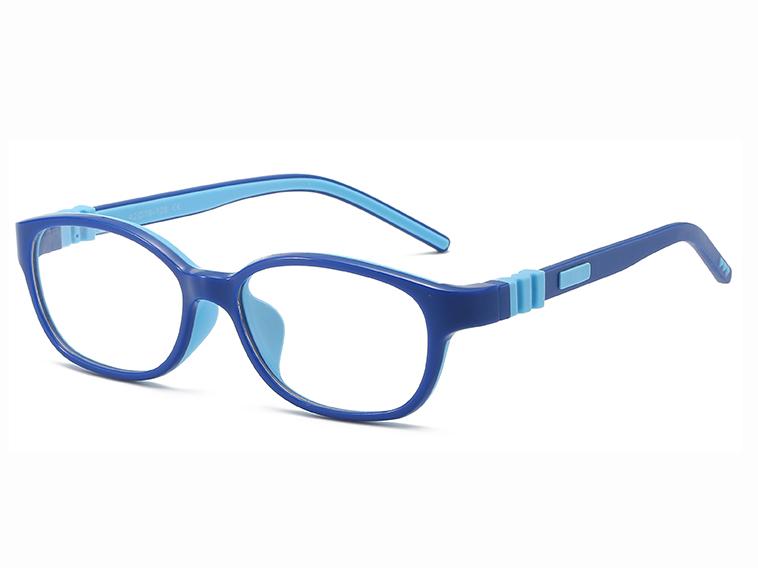 Flexible de tr90 del bloqueo de luz azul gafas para niños