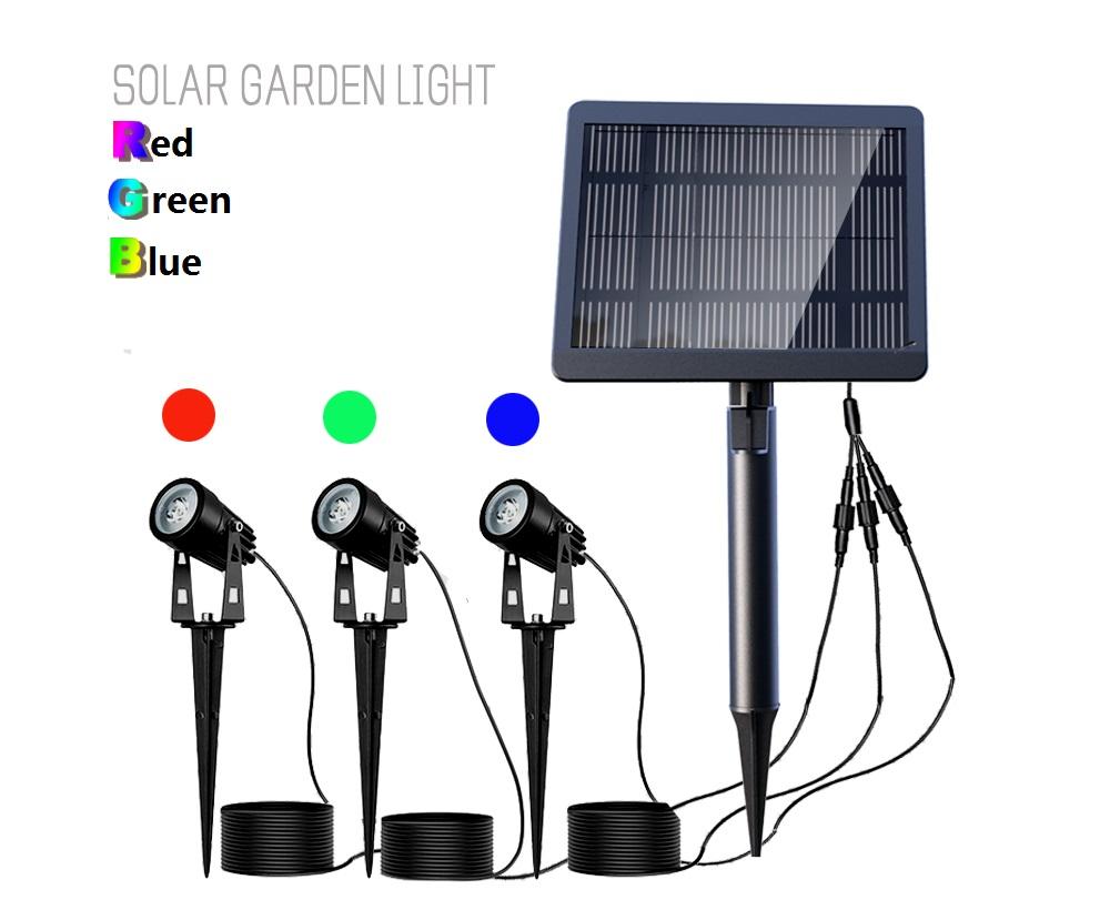 Aluminum Solar Spot Light Solar Rating IP65 Solar Power Lamp tree  garden decoration outdoor led light
