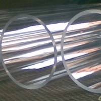 customizable heat resistant high quality both ends open stained glass tube glass