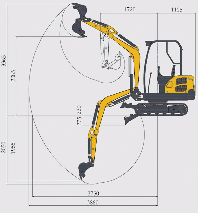 1.8ton compact excavator mini digger for European countries