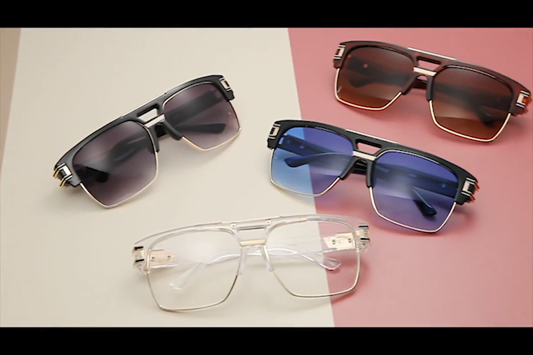 سكاي واي الكلاسيكية الفاخرة نظارات شمسية أزياء العلامة التجارية خمر مربع العصرية رجل النظارات الشمسية
