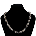 Handmade Chain Necklace Crystal Silver Jewelry Necklace