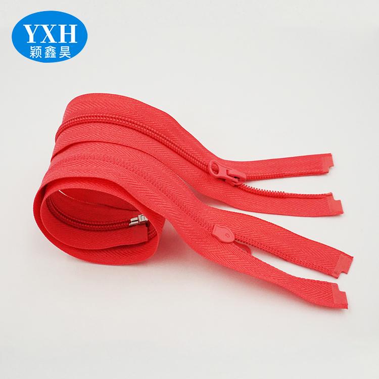 Ordinary automatic lock # 5 # 7 pink slider fashion opening nylon zipper long chain