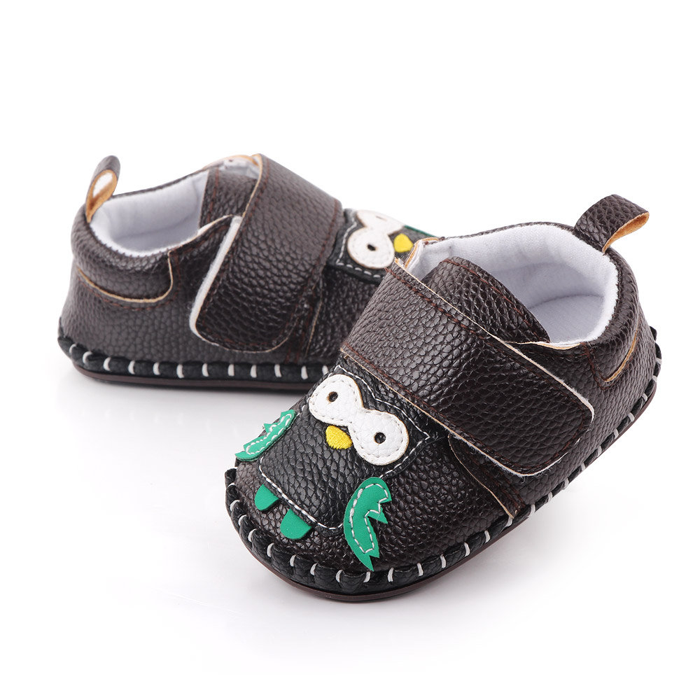 High quality non-slip leather carton TPR baby shoes