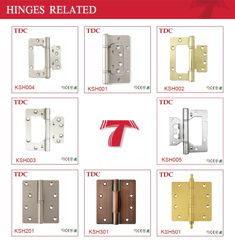 "Korea Standard 4"" Square Ball Bearing Hinge Brass Plated"