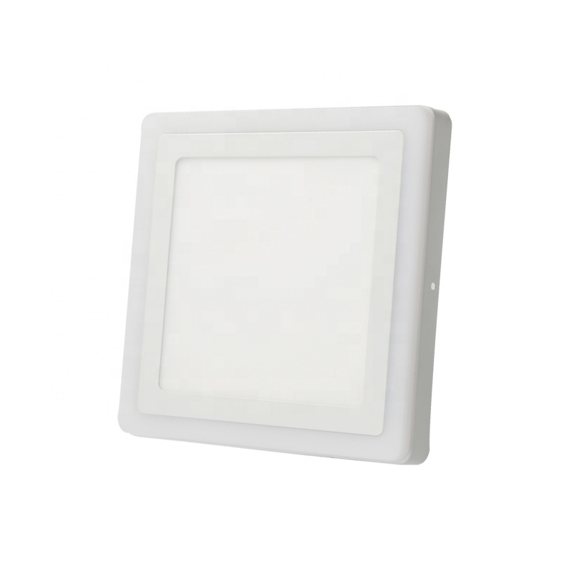 Red green blue yellow pink surface square two color led panel light
