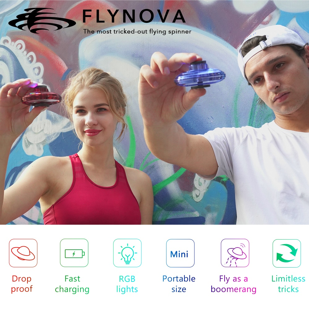 2020 Hot Selling Dropshipping Wholesale Family Christmas UFO Drone Toys Fying Spinner Flynova
