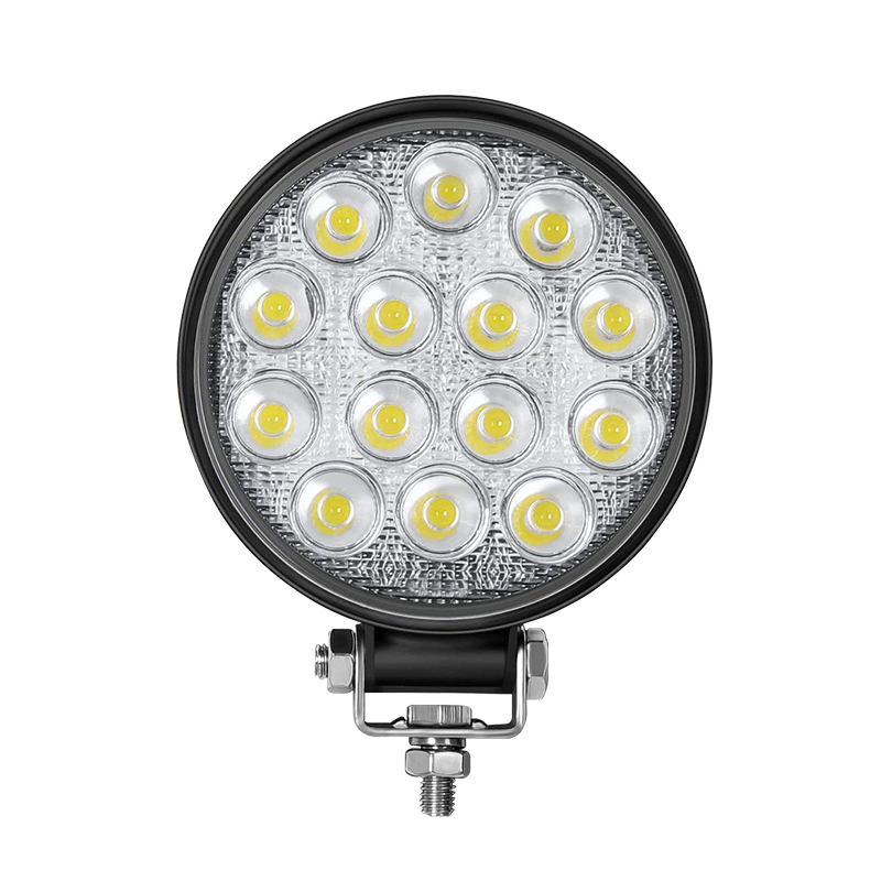 Motorcycle LED Spotlight Round 5inch LED Headlight 42W IP66 Waterproof LED Work Light Adjustable angle Design Light Bar