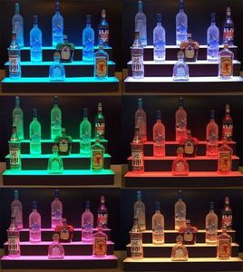 "36""w 3-Tier Acrylic  illuminated  Bottle display Organizer LED lighted   for Countertop Use"