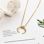 Elegent women femail fashion chain 925 sterling gold necklace