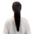claw clip 20 Inch Woman Synthetic Hair Ponytail Long Black Straight Hair Extension