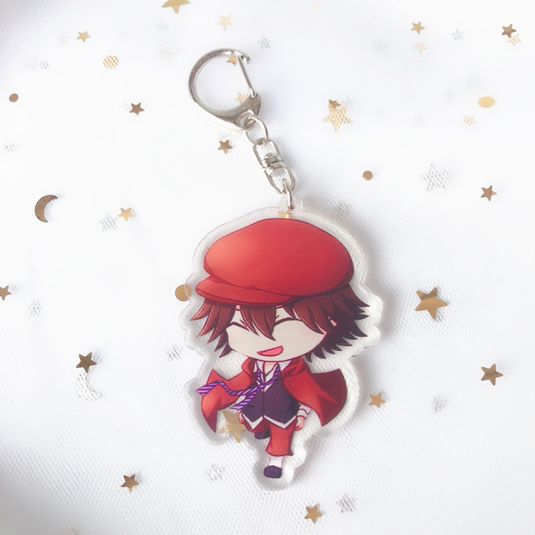 Idol Trainer Double Transparent Pendant Acrylic Keychain, Q Edition Star Accessories Keychains