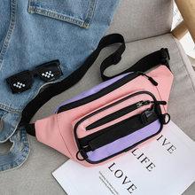 Хит, цветная холщовая поясная сумка, женская модная поясная сумка, многофункциональная нагрудная сумка-мессенджер, уличная спортивная нагр...(Китай)