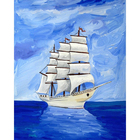 Sailing Nude Painting by diamonds with Top quality hot sale all over the world