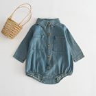 Wholesale Spring Autumn Distributor Factory children baby girl jeans long sleeve Romper