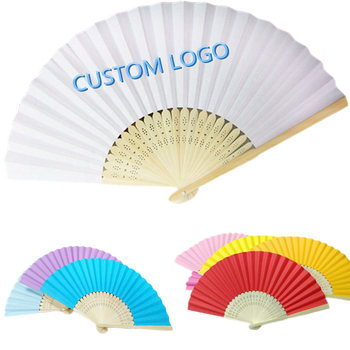 [I AM YOUR FANS] 2020 custom kpop printed logo personalized bamboo paper folding hand fans