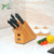 Bamboo Wood Knife Storage Block Knife Block Set