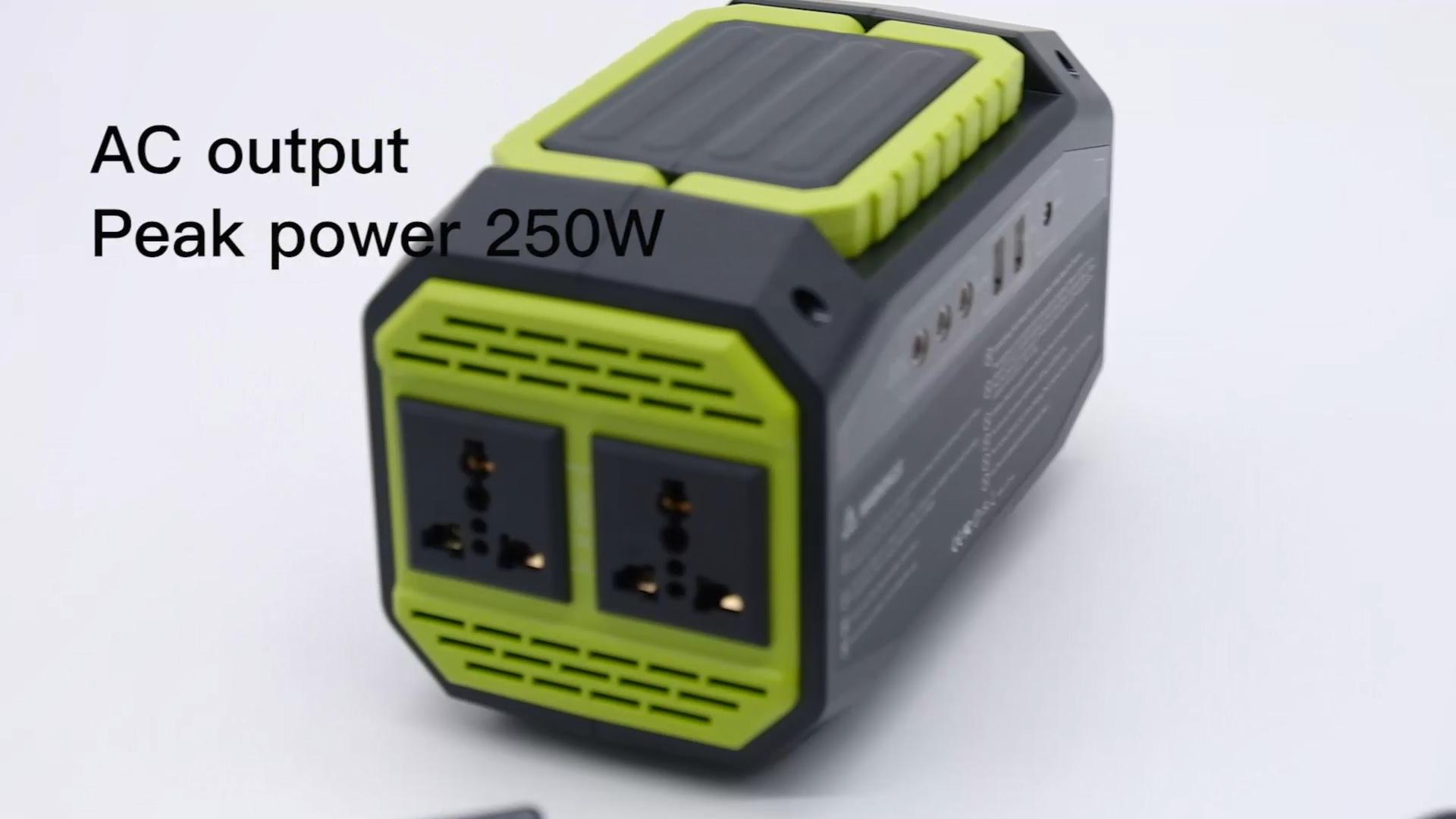Портативный аккумулятор переменного тока 150 Вт перезаряжаемый источник питания для компьютера