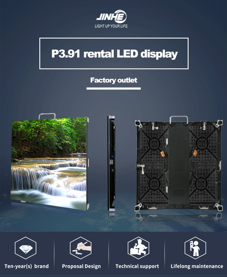Full Color P391 Indoor Advertising Stage Hanging Rental Led video wall Display Screen