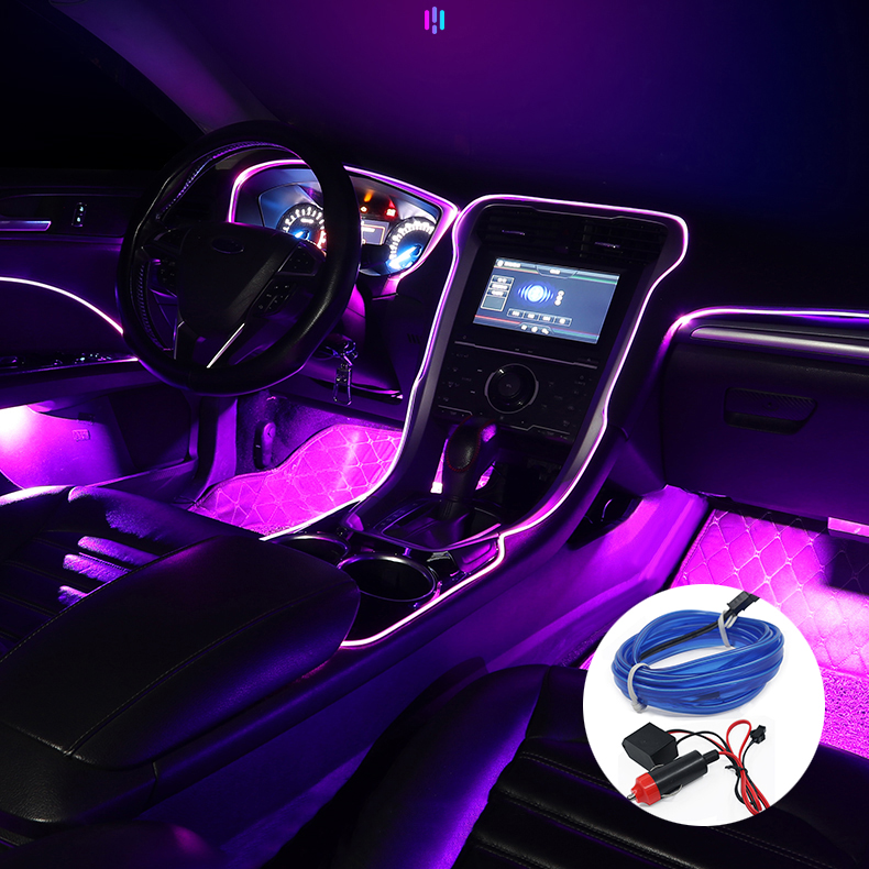 KELENATE Car LED Strip Light Multicolor RGB Car Interior Lights  Ambient Lighting Kits For car interior ambient