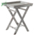 Rustic White washed Torched Wood Folding TV Table Stand with Removable Serving Tray