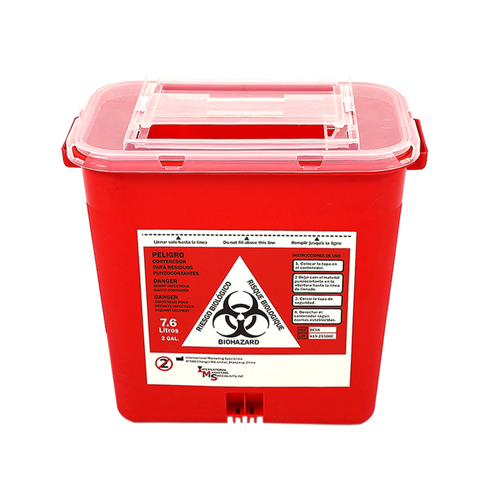 Medical Disposable Syringe Manufacturers Waste Disposal Safety Box For Hospital Sharp Container