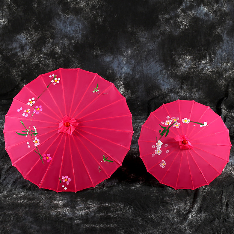 chinese traditional handmade parasol folded oil paper umbrellas with photo print paper parasol wedding
