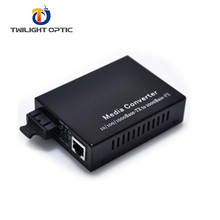 10/100/1000 Dual Fiber Media Converter Multimode SC Adaptor 850nm 500 M Rentang