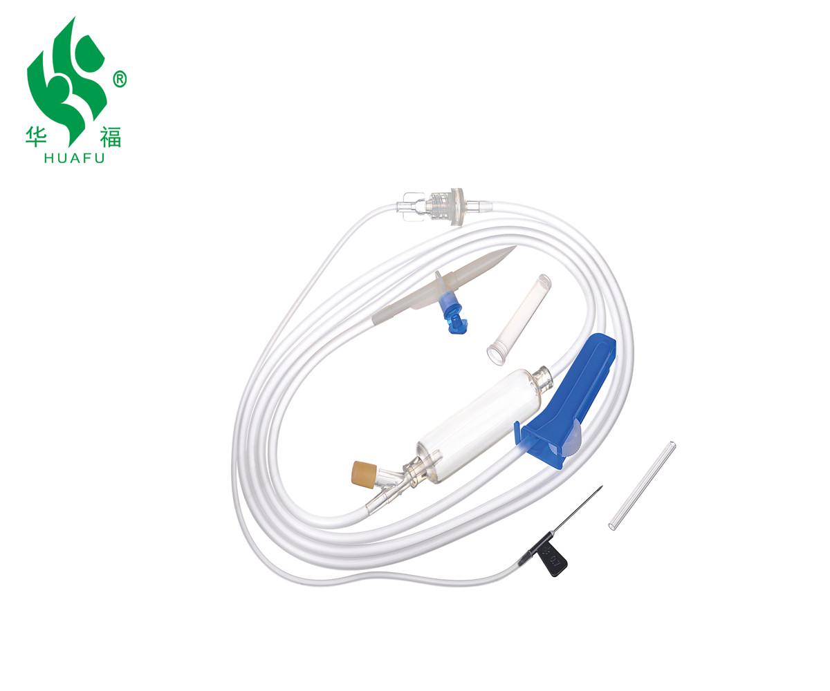 Needle Luer slip/luer lock Rubber tube medical use infusion set Sterile IV set Luer slip type