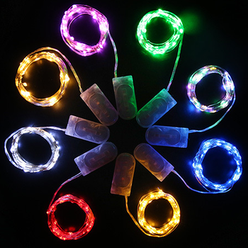 CR2032 1M 10 leds luces Micro Copper Wire Ultra Thin Rope Decorative Festival Light Battery Operated micro colored led light