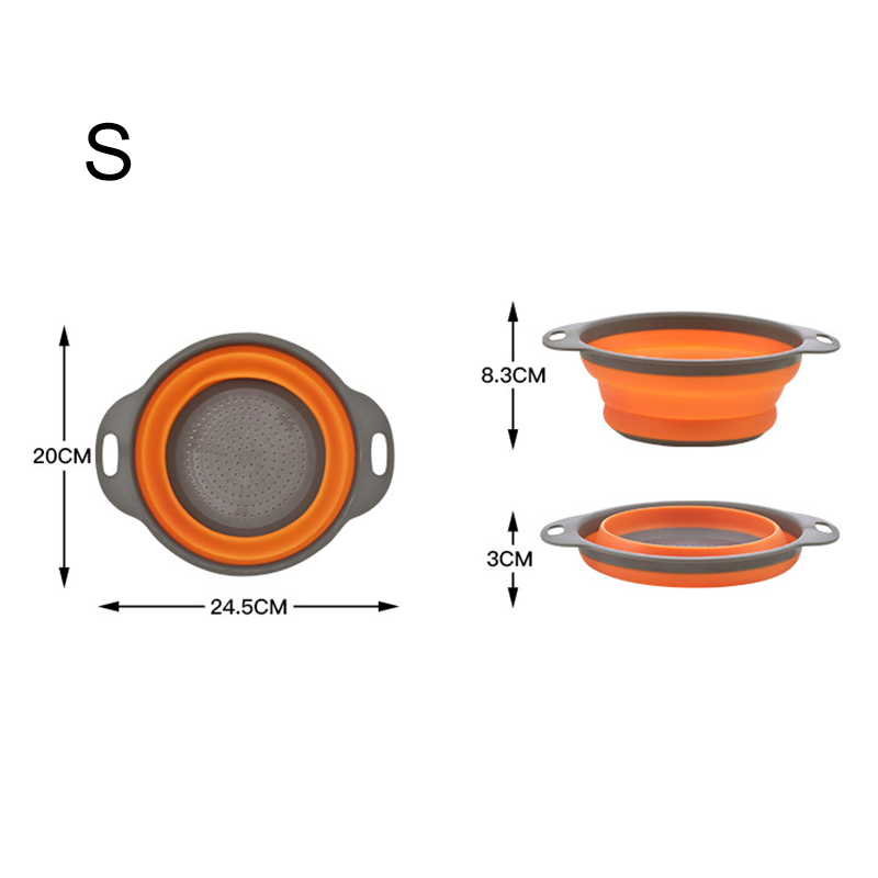 BPA Free Heat Resistant Drainer Steam Basket Kitchen Collapsible Colander with Handle