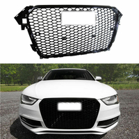 Car ABS Plastic Gloss Black Front Bumper Grill 13-15 For Audi A4 B9 RS4