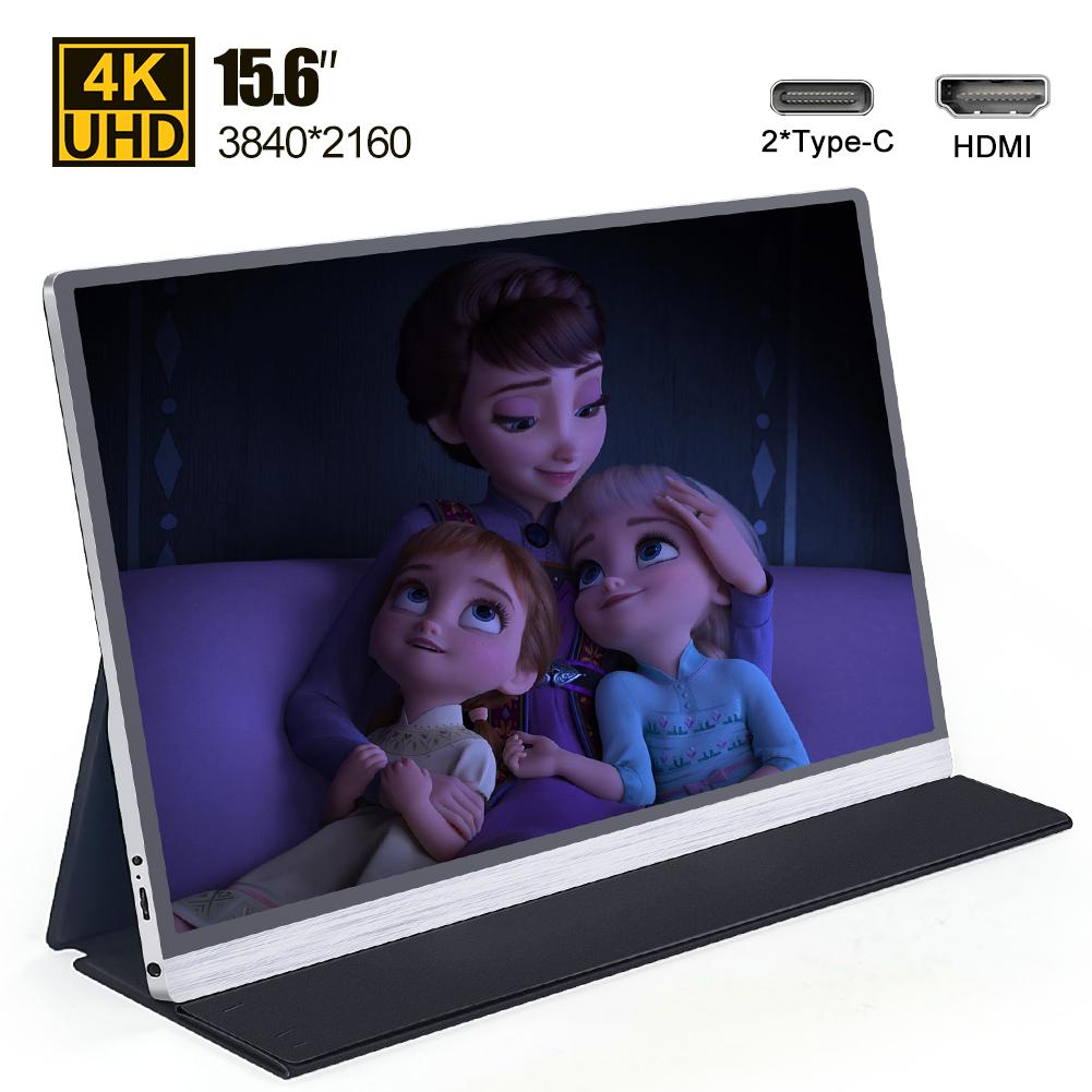 Soporte de iphone al por mayor de la fábrica monitor portátil de 15,6 pulgadas 1080p exterior LED pantalla de juego para iphone PC portátil XBOX PS4 interruptor