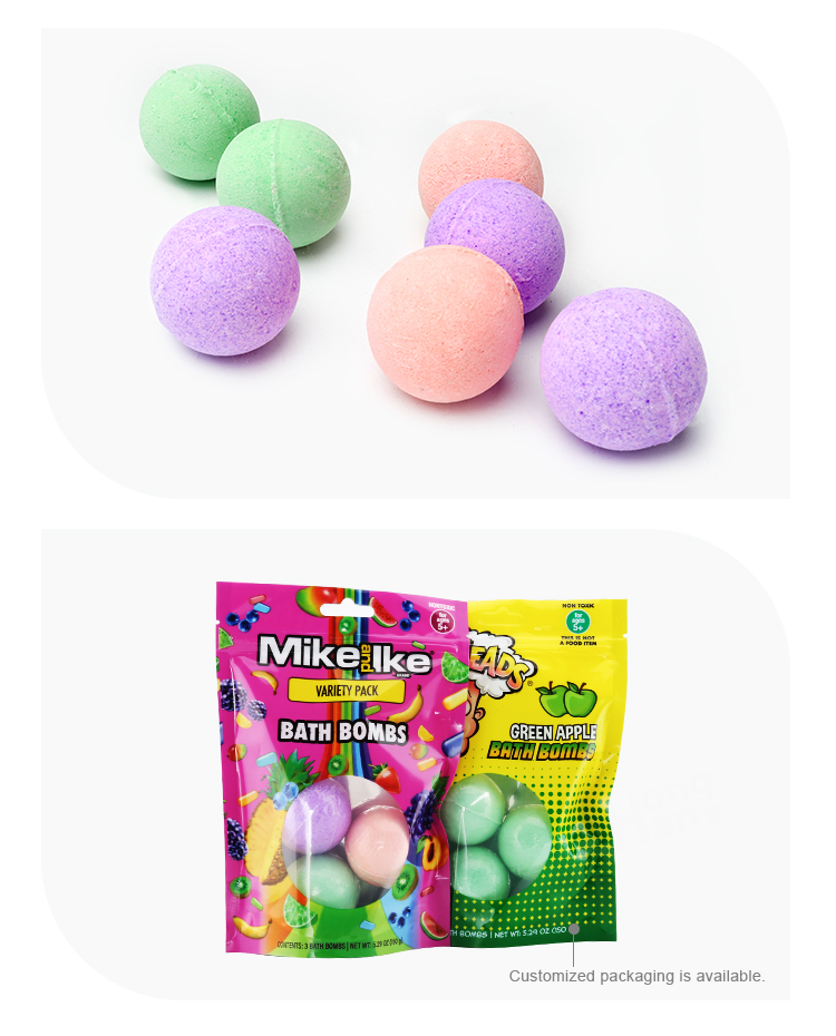 Private label natural organic herbal kids bath bombs gift set